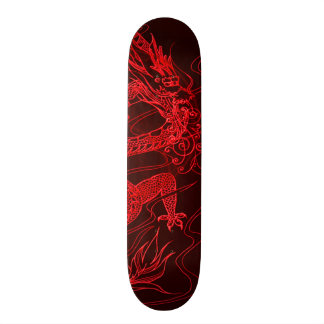 Avfyra drakeinslag som beställnings- Pro parkerar Skateboard Bräda 21,5 Cm