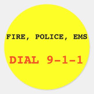 Avfyra, förse med polis klistermärken för EMS 911