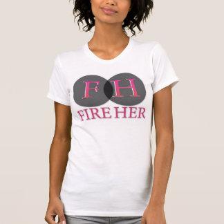Avfyra henne kvinna den Racerback T-tröja, äggskal T-shirt