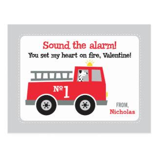 Avfyra lastbilen klassificerar valentines vykort