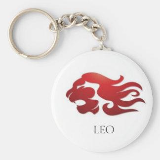 Avfyra Leo Rund Nyckelring
