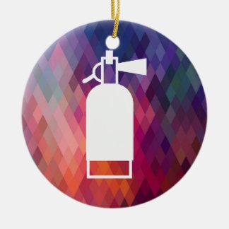 Avfyra minsta eldsläckare julgransprydnad keramik
