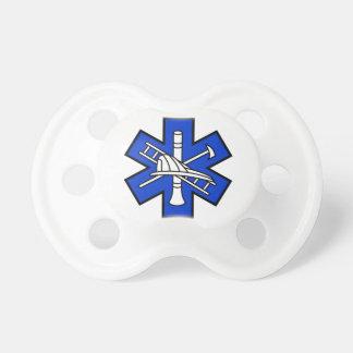 Avfyra och EMS-logotypen Napp