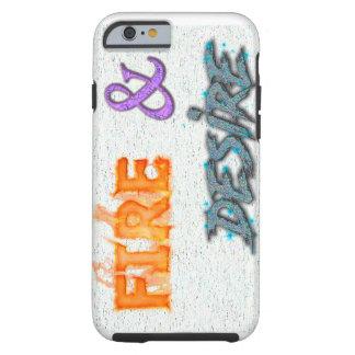 Avfyra och lusttext för stativ ut tough iPhone 6 case