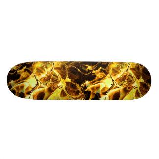 Avfyra skateboarden för Fractalkonst 4 Old School Skateboard Bräda 21,6 Cm