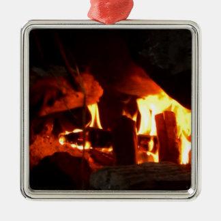 AVFYRA: Spishärd Silverfärgad Fyrkantigt Julgransprydnad