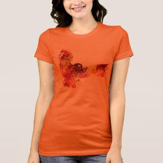 Avfyra stänk för phenixugglafärg tee shirt