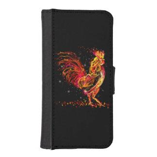 Avfyra tuppen. Flammande djur gnistracooladesign iPhone SE/5/5s Plånbok