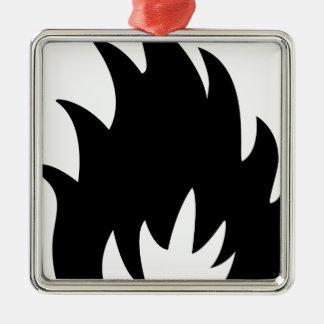 Avfyra varningssymbolet julgransprydnad metall