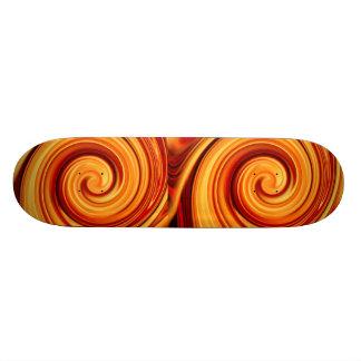 Avfyra virvlar runt old school skateboard bräda 18 cm