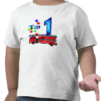 Avfyrar den 1st födelsedagen för pojken motorn tee