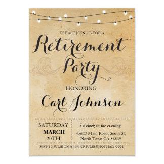 Avgådd partyinbjudan för pension inbjudan