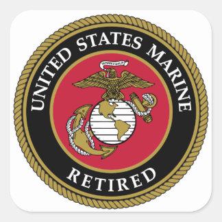 Avgådd svart för US flotta Fyrkantigt Klistermärke