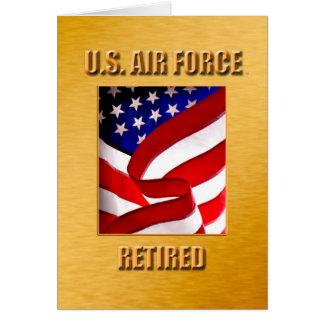 Avgått U.S.A.F. Hälsningskort