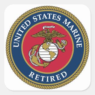 Avgick blått för US flotta Fyrkantigt Klistermärke