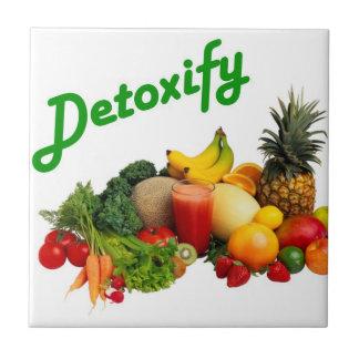 Avgifta frukter och grönsaker kakelplatta