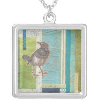 Avian Scrapbook mig Silverpläterat Halsband