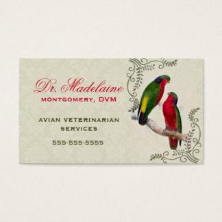 Avian veterinär- papegojavisitkort visitkort