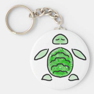 Avkopplad havssköldpadda Cutie Rund Nyckelring