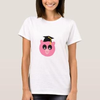 Avlägga examen grisen med den grundläggande tee shirt