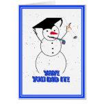 Avlägga examen snögubbear - YAY! Du gjorde den! Hälsningskort