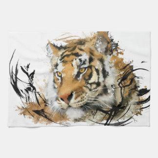 Avlägsen tiger handuk