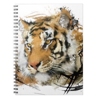 Avlägsen tiger antecknings bok