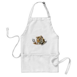 Avlägsen tiger förkläde