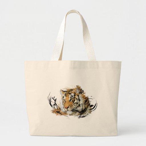 Avlägsen tiger tygkassar