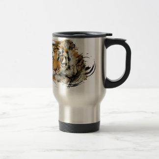 Avlägsen tiger rostfritt stål resemugg