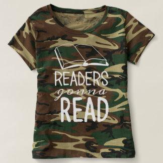Avläsare som går att läsa - kvinna den Camo Tee Shirt