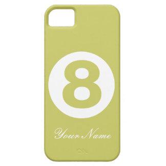 Avokadogrönt numrerar fodral åtta iPhone 5 cover
