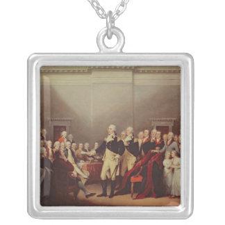 Avsägelsen av George Washington Silverpläterat Halsband