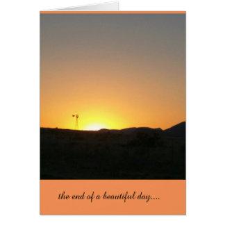 avsluta av en härlig dag hälsningskort