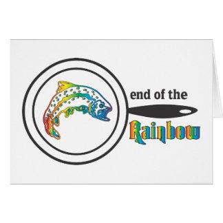 Avsluta av regnbågeforellen hälsningskort