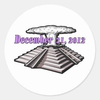 Avsluta av världen - December 21, 2012 Runt Klistermärke