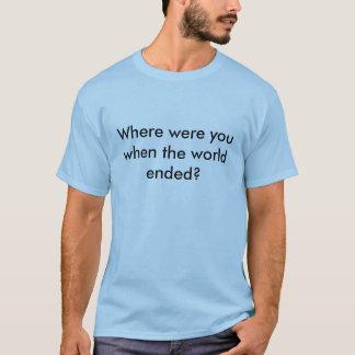 Avsluta av världen tee shirts