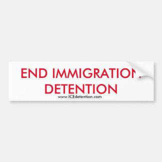 Avsluta invandringförsening bildekal