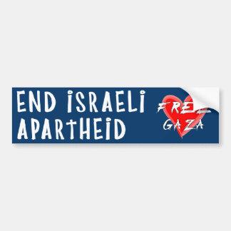 Avsluta israelisk apartheid fria Gaza Bildekal