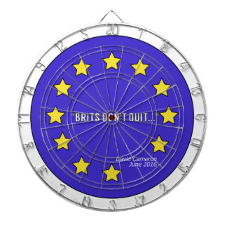 """""""Avslutar britter inte"""" den Brexit dartboarden Darttavla"""