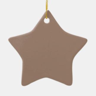 Avslutar den bruna kicken för bäver kulört stjärnformad julgransprydnad i keramik