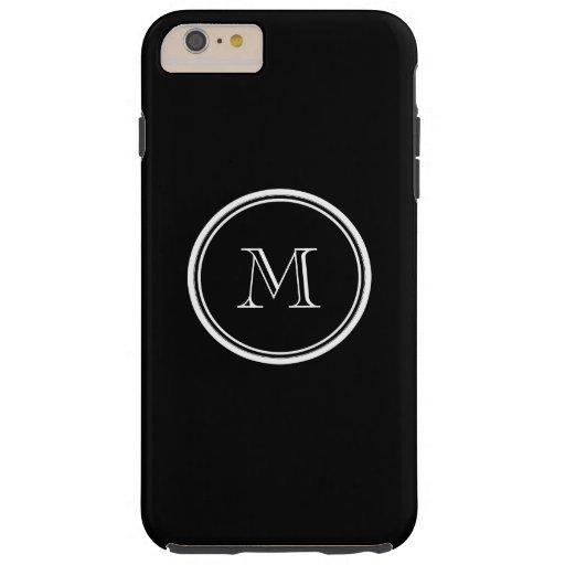 Avslutar den initiala svart kicken för Monogram Tough iPhone 6 Plus Fodral