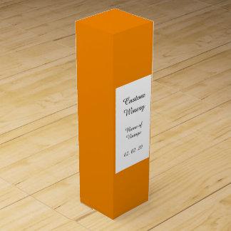 Avslutar den orange kicken för Tangerine kulört Presentaskar För Vinflaskor