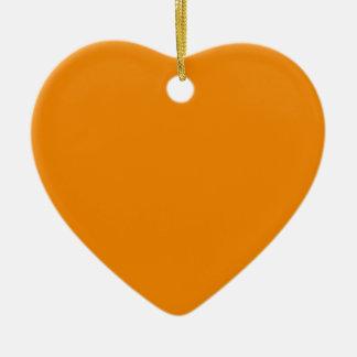 Avslutar den orange kicken för Tangerine kulört Hjärtformad Julgransprydnad I Keramik