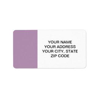 Avslutar den purpurfärgade kicken för lavendel adressetikett