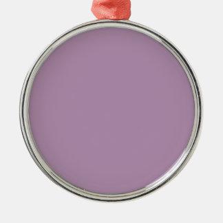 Avslutar den purpurfärgade kicken för lavendel rund silverfärgad julgransprydnad