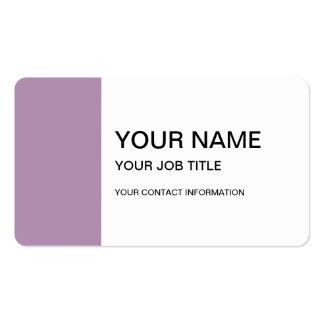 Avslutar den purpurfärgade kicken för lavendel set av standard visitkort