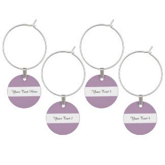 Avslutar den purpurfärgade kicken för lavendel vinglasmarkör