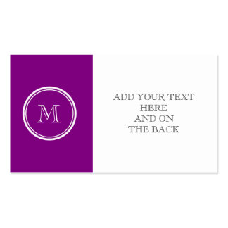 Avslutar den purpurfärgade kicken för patriark set av standard visitkort