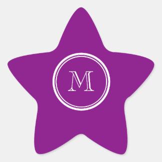 Avslutar den purpurfärgade kicken för patriark stjärnformat klistermärke